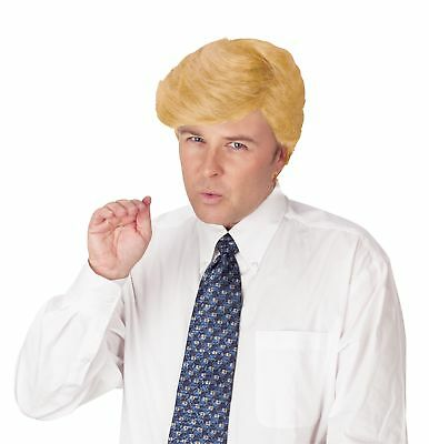 Comb Over Presidential Candidate DONALD TRUMP Politician Costume Wig Blonde