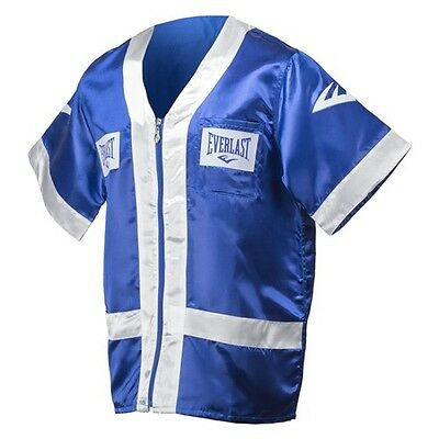 NEW Men's Everlast Boxing Corner Cut Man Jacket RobeSize: Small Color: Blue