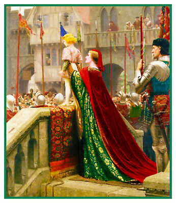 Leighton/'s Tristan and Isolde Renaissance Art Counted Cross-Stitch Pattern Chart