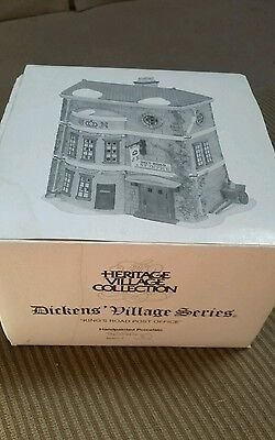 Dept 56 Dickens Village King's Road Post Office #58017 D56 Has Light Cord & Sign
