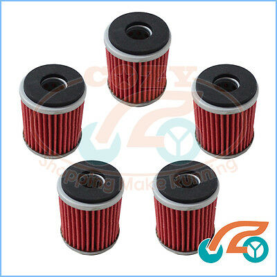 5 × Oil Filter for Yamaha WR250F WR450F YZ250F YZ450F YFZ450 ATV 2006-2010