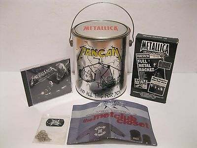 Metallica Fan Can #4 With CD, VHS & Dog Tag