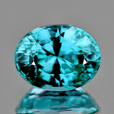 [IF]~1.66CT OVAL 8x6MM AAA+++ EXCELLENT TOP COLOR BLUE ZIRCON NATURAL GEMSTONE