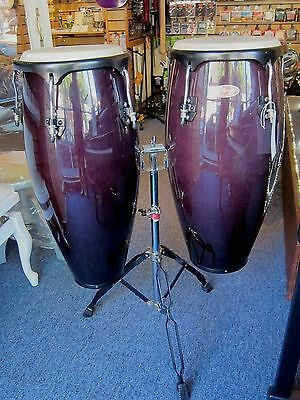 Stagg conga drums on stand