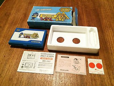 Nintendo Game & Watch Gold Cliff MV-64 complete in box and excellent condition