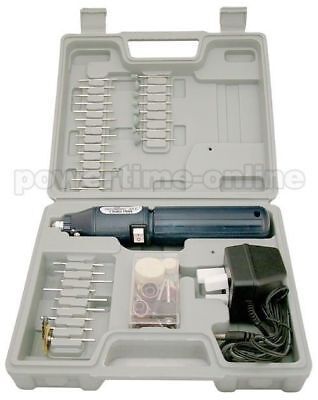 100Pc Cordless Rechargeable Mini Rotary Hobby Drill Tool + Case
