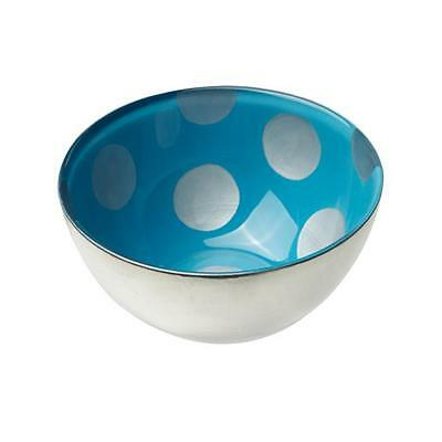 MoMo Panache 807243 Bowls Silver with Blue Dawn and large silver dots pair