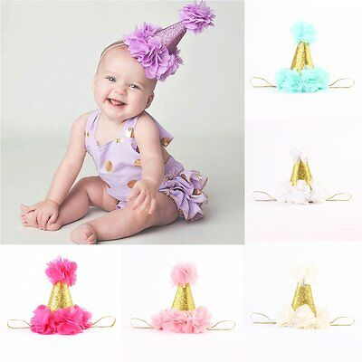 Newborn Infant Kids Baby Toddler Girls Princess Crown Flower Headband Hair Band