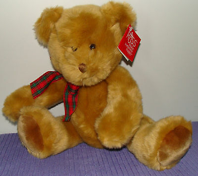 "Russ Nutmeg Potbellied Bear 33192 Large 16"" Tall New With Tags ~ Bk"