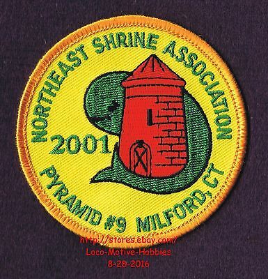 LMH PATCH Badge 2001 NORTHEAST SHRINE Shriners PYRAMID 9 TEMPLE  Milford CT Silo