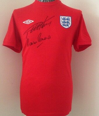 1966 England Shirt Signed By Geoff Hurst & Martin Peters + COA