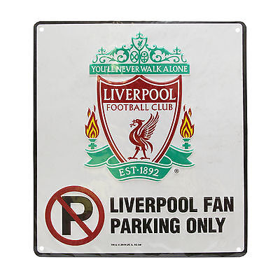 Liverpool FC Official No Parking Metal Sign