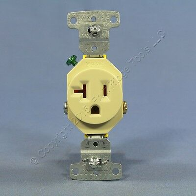 Hubbell Ivory  COMMERCIAL Grade Single Outlet Receptacle 5-20R 20A 125V RR201I