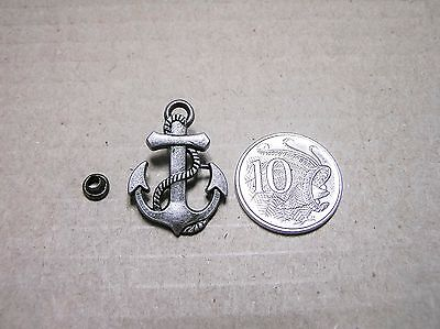Punk Rivets Anchor Antique silver 22 x 30mm suit bags, belts, hats, collars