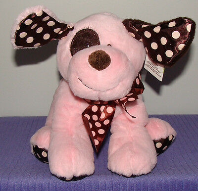 """Ganz Chocolate Drops Dog With Inner Rattle Bg2609 New With Tags 11"""" Long ~ Di"""