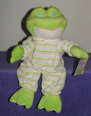 """Ganz Stripey Frog With Inner Rattle Bg1748 New With Tags 12"""" Tall ~ Di"""