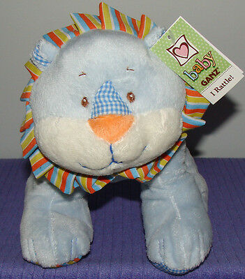 """Ganz Calico Lion With Inner Rattle Bg2227 New With Tags 9"""" Tall ~ Di"""