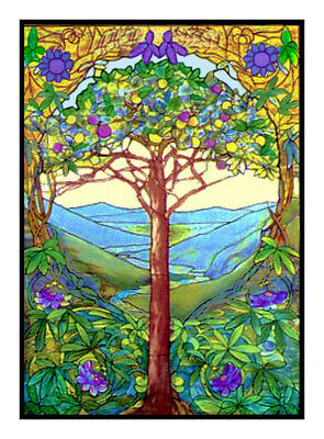 The Tree of Life Louis Comfort Tiffany Counted Cross Stitch Pattern