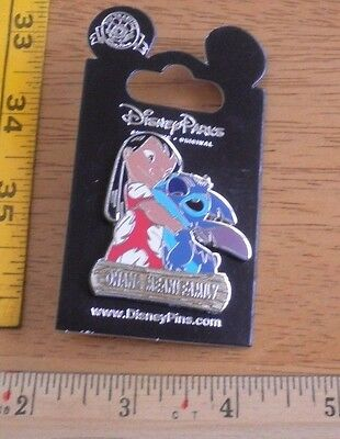 Lilo and Stitch Ohana means family hugging Disney Pin MOC