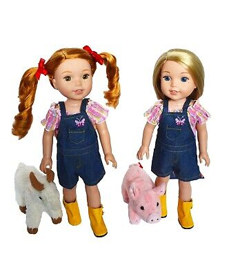 My Brittany's On the Farm Outfit for Wellie Wisher Dolls- 14 Inch Doll Clothes