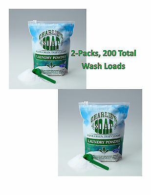 Charlie's Soap Laundry Powder 200 Washloads Hypoallergenic FREE SHIPPING