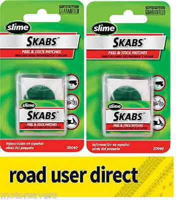 2 x 6 Pack Slime Skabs Glueless Bike Puncture Patches For All Bikes Free Post