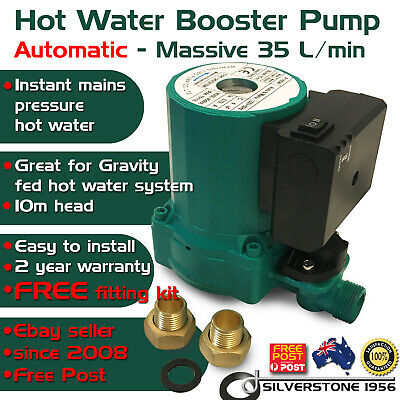 Hot Water Shower AUTOMATIC ON OFF Booster Pump Gravity Fed System 35 L/Min 240 V