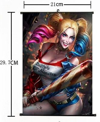 Hot Movie Suicide Squad Harley Quinn Joker Valentine Poster Wall Scroll 21*30CM