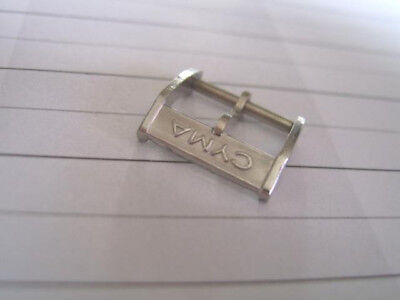 Vintage Nos 14Mm Cyma Chrome Plated Watch Buckle             *5816