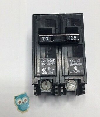 New Circuit  Breaker Siemens Q2125  125 Amp  2 Pole 120/240v Type QP