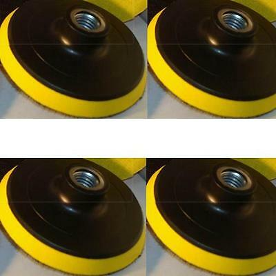 """5 Pieces 5"""" Back Holder/Backer Pads for Diamond Polishing Pads 5/8""""-11 Thread"""