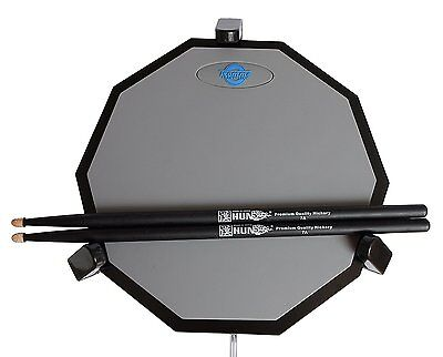 Tromme Drum Practice Pad & Carrying Case – 12 Inches – Two-Sided Silicone – Base