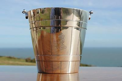 King Edward Vii Royal Yacht Victoria & Albert Iii Silver Plate Ice Bucket Pail
