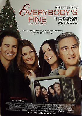 "EVERYBODY'S FINE Original Movie Poster 27""x40"" DOUBLE SIDED From THEATER De Niro"