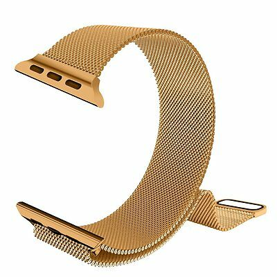 GOLD MILANESE STEEL Wristband Band Strap + Cover For iWatch 42MM APPLE WATCH 1