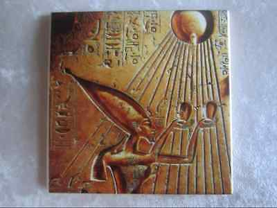 """Ancient Egyptian Themed 4.25"""" x 4.25"""" Ceramic Tile Coaster Wall Tile"""