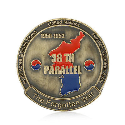 Korean War 38th Parallel The Forgotten War Commemorative Coin Art Collection New