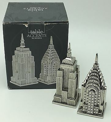 Godinger New York Landmark Empire State Chrysler Salt Pepper Shakers Skyline