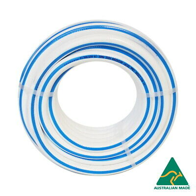 "Dairy Washdown Hose 25mm x 100 metres 1"" Flexible Braided Wash Down Water Hose"
