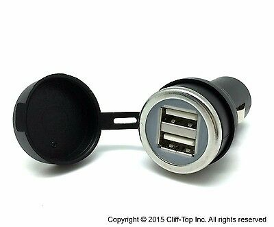 Cliff-Top® 3.3Amp Ultra Fast USB Car Charger (Black) - Auto Shunt