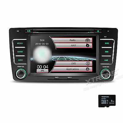 "7"" Touch Screen Car Stereo Radio DVD GPS Navi Dual CANbus for Skoda Octavia Yeti"