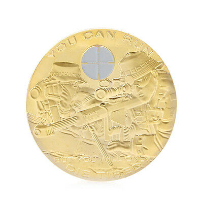 You Can Run But You Will Only Die Tired Commemorative Coin Collectible Challenge