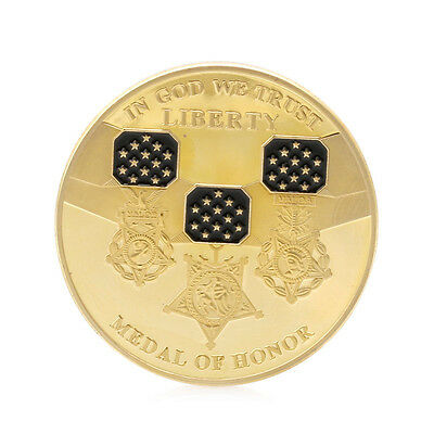 In God We Trust Medal of Honor Liberty Commemorative Challenge Coin Collectible