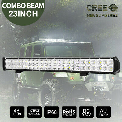 23 inch 336W CREE LED Light Bar Spot Flood Combo 4x4 Work Driving Off Road 22""