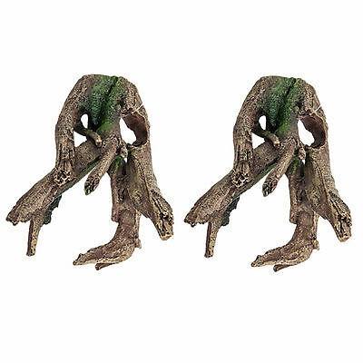 Aquarium Fish Tank Ornament Nano Tree Root Pack Of Two!