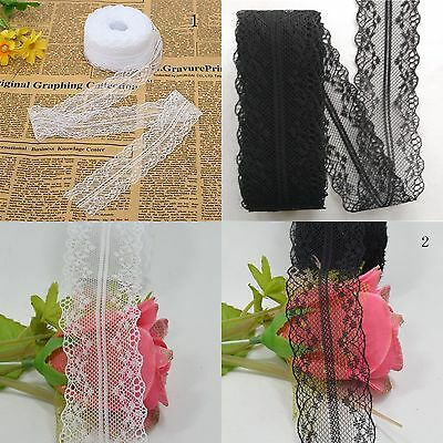 1 Roll 10M Wholesale Beautiful Handicrafts Embroidered Net Lace Trim Ribbon Lace