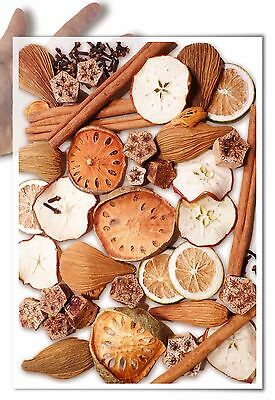 Decoupage Paper soft spices and dried fruit cinnamon christmas