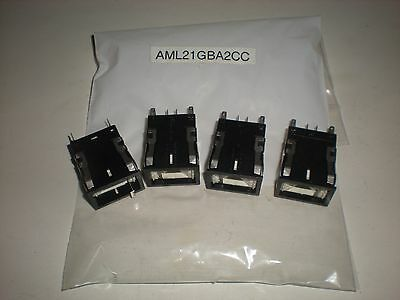 (Lot Of 4) Micro Switch Aml21Gba2Cc Push Button Switch New