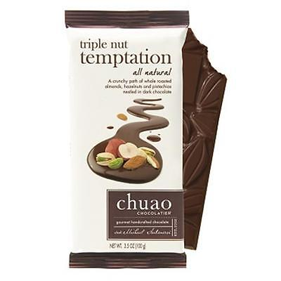 Chuao Chocolatier 900702 Triple Nut Temptation Chocolate Bar 6 bars