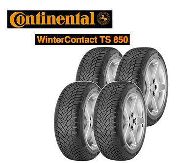 4x Continental ContiWinterContact TS 850 - 195/65 R15 91T (Winter Tyre)